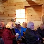The Education Lodge was comfortable as we learned all about the wolves at the WCC