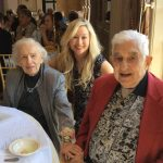 Skip and Anita Lester married 70 years and Lisa Rieckermann, Community Life Director
