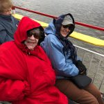 Irene and June braving the cold!