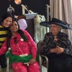 Residents showing off their costumes!