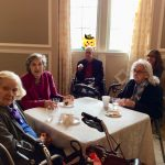 Residents celebrating with some refreshments.