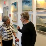 Ellen and resident artist Shirley.