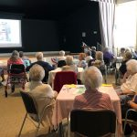 Residents enjoyed the food along with the astounding photos!